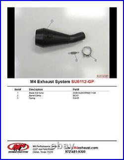 Suzuki GSXR600 GSX-R600 2011 2021 M4 GP Slip On Exhaust Black Muffler