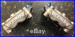 Suzuki Hayabusa Brembo 108mm Monoblock front brake calipers in titanium, pair of
