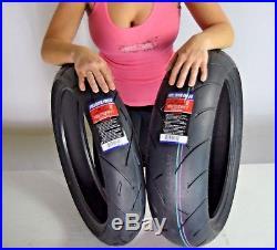 TWO Full Bore TIRE SET 120/70ZR17 & 180/55ZR17 MOTORCYCLE TIRES CBR GSXR YFZ R6