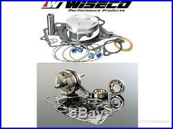 Top & Bottom End Rebuild Kit 04-05 KX250F 04-06 RMZ250 Crankshaft Piston Gaskets