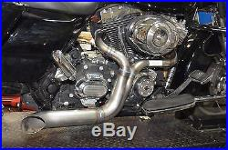 Twisted Choppers 2 into 1 Exhaust Header Pipe 1985-2016 Harley Touring Bagger