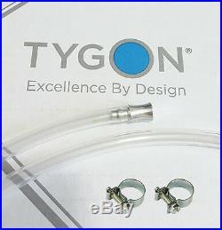 Tygon 2375 tubing 8mm + ALUMINIUM PLUG+SS CLAMPS reservoir hose ID 30cm TBE. 012