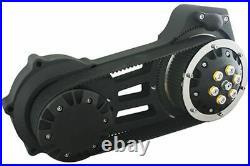 Ultima Black 2 Open Belt Drive Complete Primary 07-17 Harley Softail Dyna