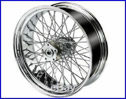 Ultima Chrome Billet 16 X 5.5 60 Spoke Rear Wheel Harley Custom 200 Wide Tire