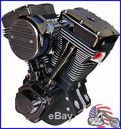 Ultima El Bruto Complete Evolution 127 Black Gem Chrome Motor Engine Harley Evo