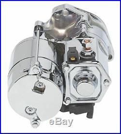 Ultima High Torque Chrome 1.4 KW Top Post Starter 1989-2006 Harley Big Twin Evo