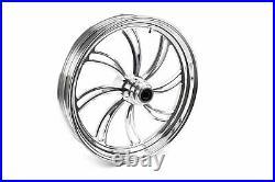 Ultima Polished Billet 21 3.5 Vortex Front Wheel Rim Single Disc Harley Custom