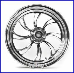 Ultima Vortex Polished Billet Aluminum 16 X 3.5 Rear Wheel Rim Harley Custom
