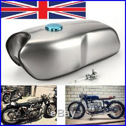 Universal Cafe Racer Fuel Tank Petrol Tank 9L/2.4 Gallon for Honda Yamaha BMW