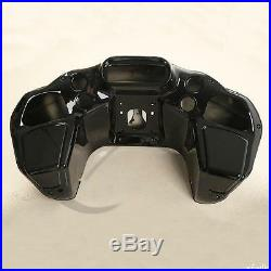 Vivid Black Injection ABS Inner & Outer Fairing For Harley Road Glide 1998-2013