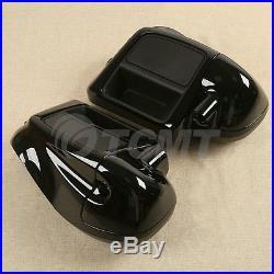 Vivid Black Lower Vented Leg Fairing Glove Box For Harley Davidson Touring 14-18