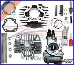 YAMAHA PW 80 PW80 Carburetor Cylinder Gasket Piston Rings Kit Set 1983-2006