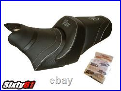 Yamaha V-Max VMax 1200 Seat Cover 1986-2002 2003 Logo Top Sellerie Black Silver